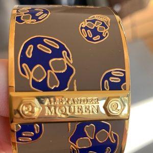 Alexander McQueen Skull Bracelet gold
